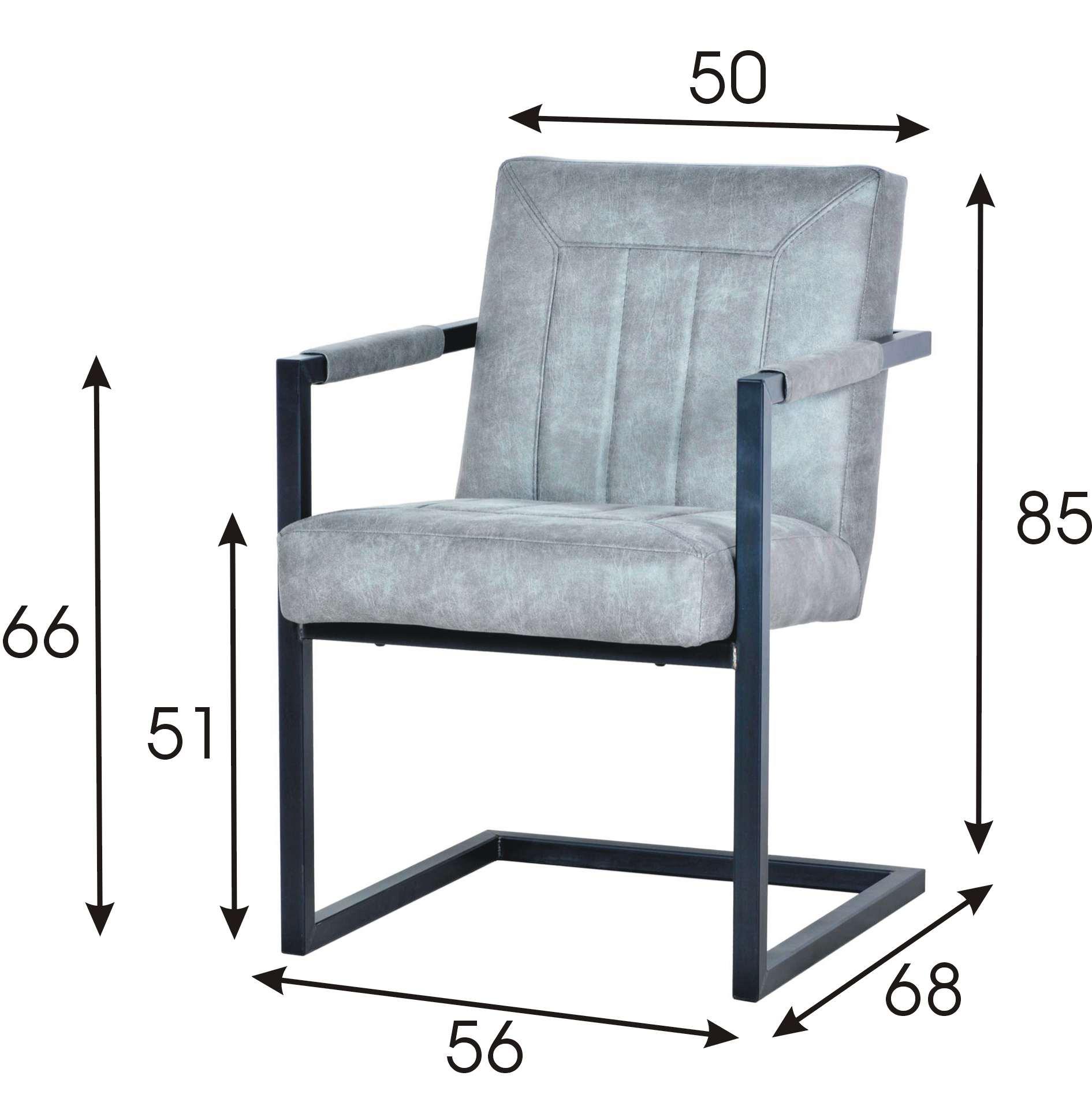 Cadira Arm szycie C Wymiary